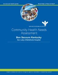 Community Health Needs Assessment - Our Lady of Bellefonte ...