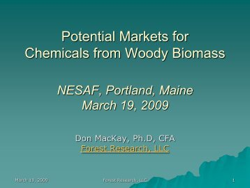 Potential Markets for Chemicals from Woody Biomass - Forest ...