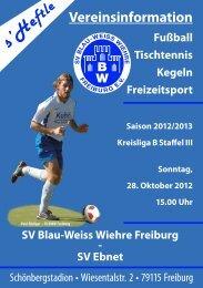 Vereinsinformation - SV Blau-Weiss-Wiehre Freiburg eV
