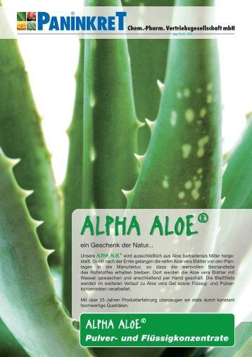 ALPHA ALOE - Paninkret