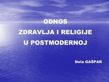 Odnos zdravlja i religije u postmodernoj (ppt)