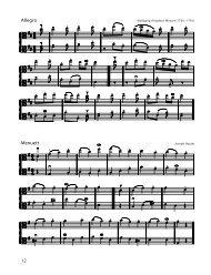 Menuett Allegro
