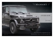 AMG Parts Overview - Mansory