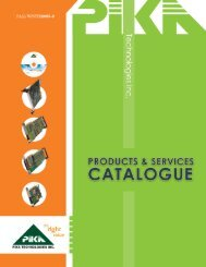 Products and Services Catalog - PIKA Technologies