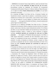 1 - - ACTA 26.- En la ciudad de Tijuana, Baja California, siendo las ...