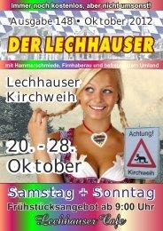 der Lechhauser - Nummer 148 - Ausgabe Oktober 2012