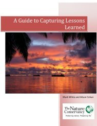 A Guide to Capturing Lessons Learned - Conservation Gateway