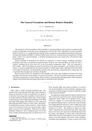 The General Circulation and Robust Relative Humidity