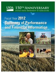 Summary of Performance and Financial Information, Fiscal Year 2012
