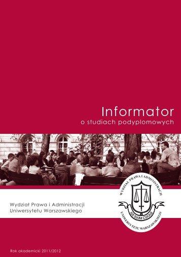 Podyplomowe Studia - Wydział Prawa i Administracji UW ...