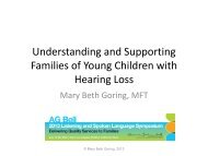Understanding and Supporting Parents of Children with Hearing Loss
