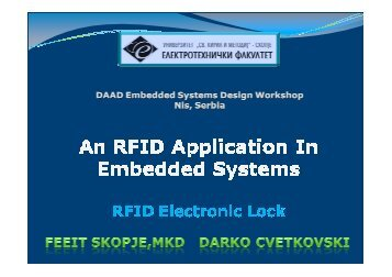 An RFID application in embedded systems