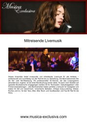 Komplette Informationsmappe - Musica Exclusiva