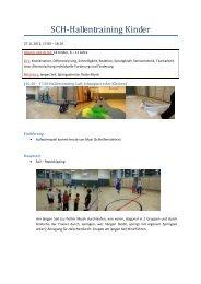 Trainingsplan Hallentraining vom 27.11.2012 von Bergmann Sylvia