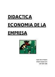 DIDACTICA ECONOMIA DE LA EMPRESA - Ecobachillerato