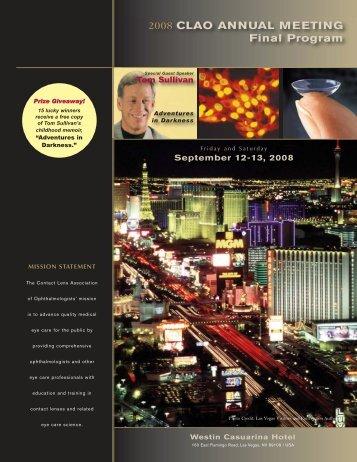 2008 CLAO ANNUAL MEETING Final Program - Contact Lens ...
