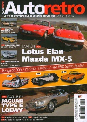 Autoretro JUIN 2012 No.365 (Kallista) - The Panther Car Club LTD