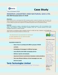 NLNG BULK SMS - Tavia Technologies