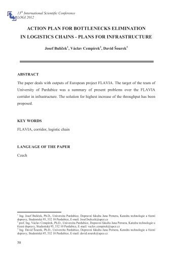 full text of paper (pdf) - LOGI - Scientific Journal on Transport and ...