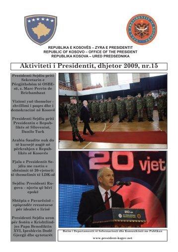 Aktivitetet e Presidentit, nr 15 - Kosovo President