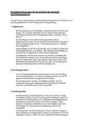 Hochflugordnung - SV der Danziger Hochflieger