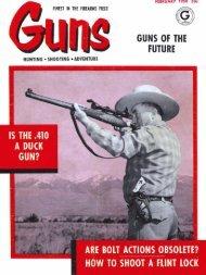 GUNS MAgazine February 1958
