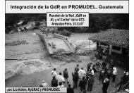 Integración de la GdR en PROMUDEL - Gestión del Riesgo y ...