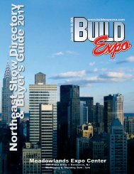 Northeast Sho w Directory & Buyer's Guide - Build Expo