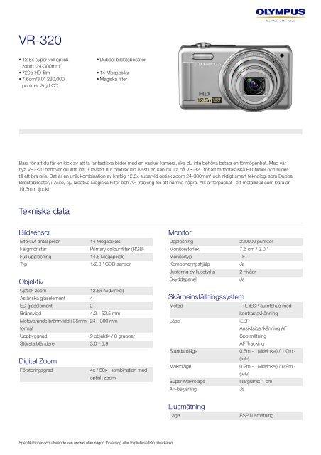 VR-320, Olympus, Compact Cameras