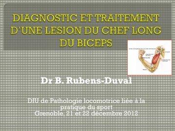 Dr B. Rubens-Duval - Service de Rhumatologie