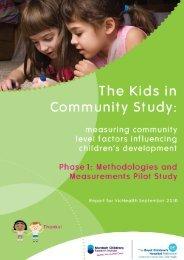 Kids in Communities Study - VicHealth