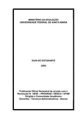 GUIA DO ESTUDANTE - 2005 - UFSM