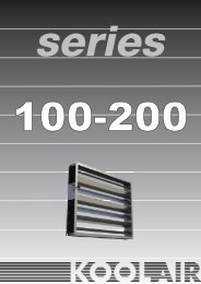 Weather louvres serie 200 - Koolair