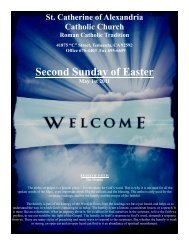 Second Sunday of Easter - St. Catherine of Alexandria Temecula