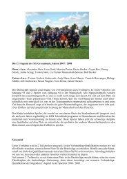 Die C1-Jugend der SG Gresaubach, Saison 2007 / 2008 Oben v.l.n.r ...