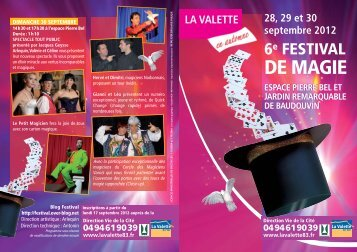 VCOM12-FESTI magie-2 volets:Mise en page 1 - Ville de La Valette ...