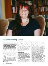 Agneta har Churg-Strauss - Välkommen till Reumatikertidningens ...