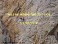 Argenone - Association Nationale des Médecins du Secours en ...