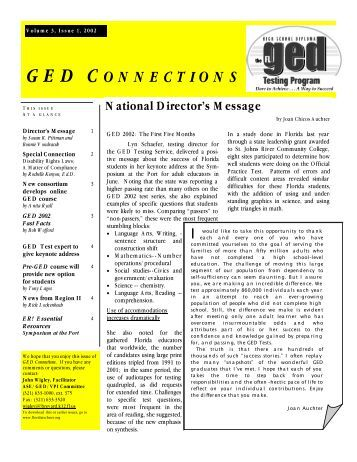 GED scores in Florida?