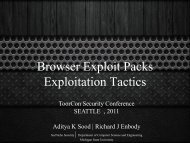 Browser Exploit Packs - Exploitation Tactics. - SecNiche Security Labs