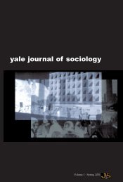 yale journal of sociology - Yale University