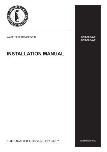 rox60sa e instruction manual pdf hoshizaki rh yumpu com Hoshizaki Ice Machine Troubleshooting Hoshizaki Water Valve