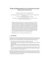 Design and Implementation of an Asynchronous Invocation ... - Voelter