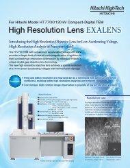High Resolution Lens - Hitachi High Technologies America, Inc