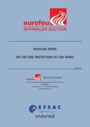 position paper on the fire protection of car parks - Eurofeu.org