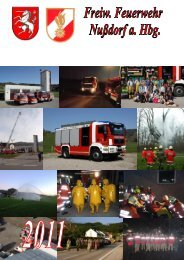 Tätigkeitsbericht 2011 - Freiwillige Feuerwehr Nußdorf am Haunsberg