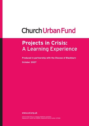 Projects in Crisis: A Learning Experience - Diocese of Blackburn