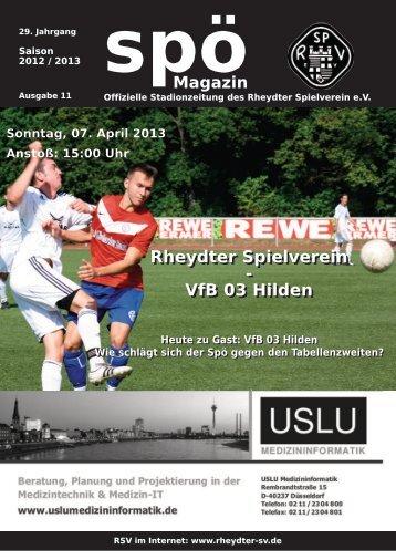 Rheydter Spielverein - VfB 03 Hilden - beim Rheydter SV