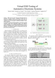 Virtual ESD testing of automotive electronic systems