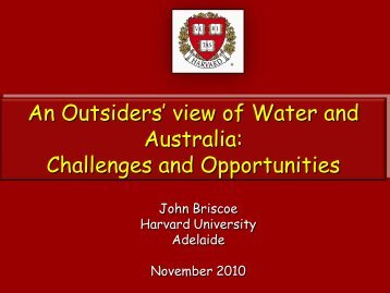 Global Water Challenges and the Potential Contribution of a ... - Ceda